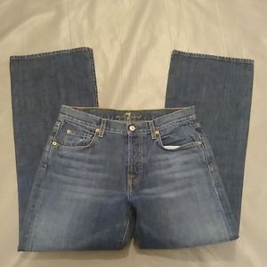 7FAM relaxed button fly jeans 31x30.5